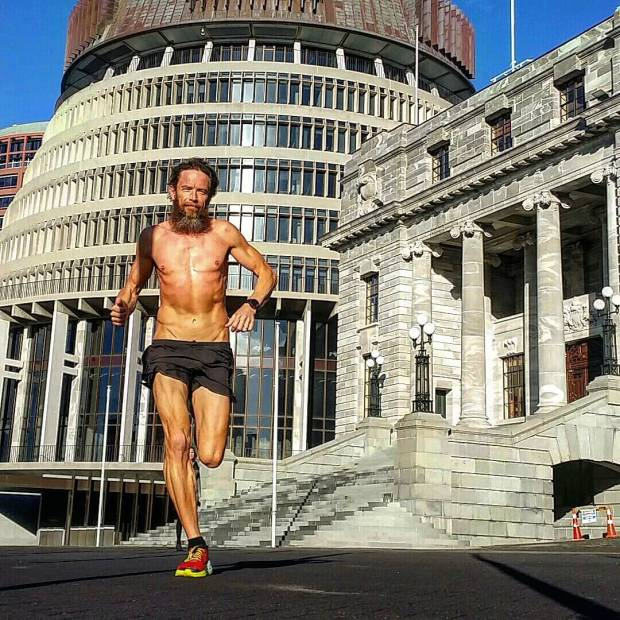 Conquering the capital, no less than shirtless in front of the Parliament. Photo credit: @ian.morgan