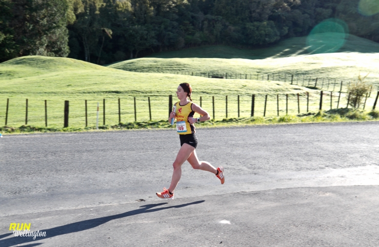 Danielle on Lap 1 for Wellington Scottish Senior Women's A