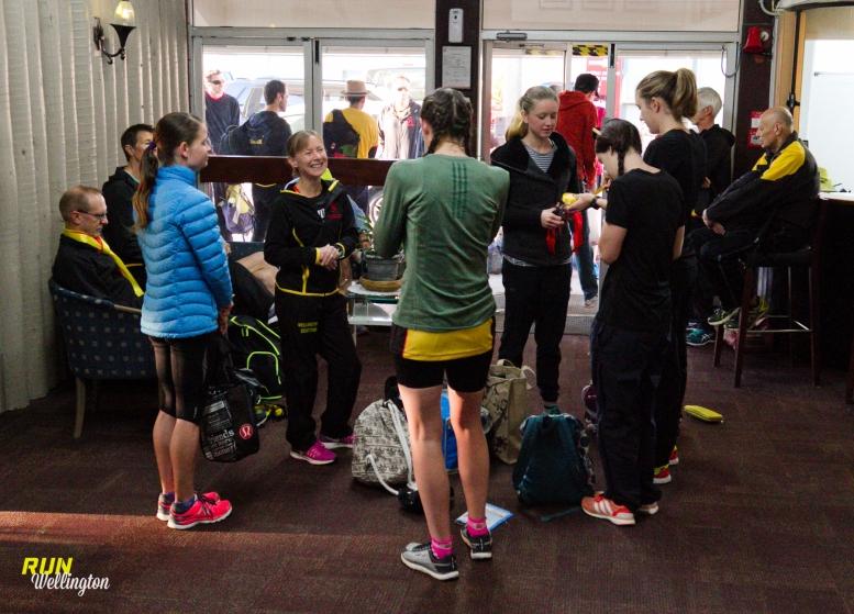 Wellington Scottish Senior Women's Team getting ready for the day ahead.