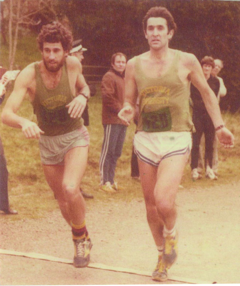 Photographs from participants in the National Road Relay in the 1980's Photos from VUW Athletic Club Archives