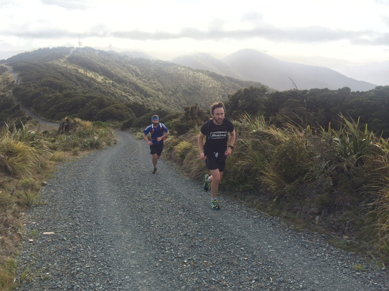 Runners on Mount Climie